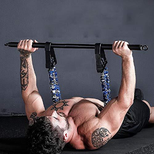 YXLM Bank Presseabzieher Brust-Push-Ausrüstung Haushalt Hantel-Hantel-Hantel-Gummiband-Training Brustmuskel-Fitnessgeräte,Black