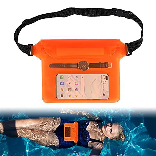 WELLXUNK Borsa Impermeabile Marsupio Impermeabile Mare con Cintura Regolabile Marsupio Impermeabile Nuoto Borsa Galleggiante Impermeabile Borsa Impermeabile da Nuoto per Spiaggia Nuoto Kayak