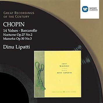 Chopin: 14 Waltzes/Barcarolle/Nocturne in D flat/Mazurka in C sharp minor
