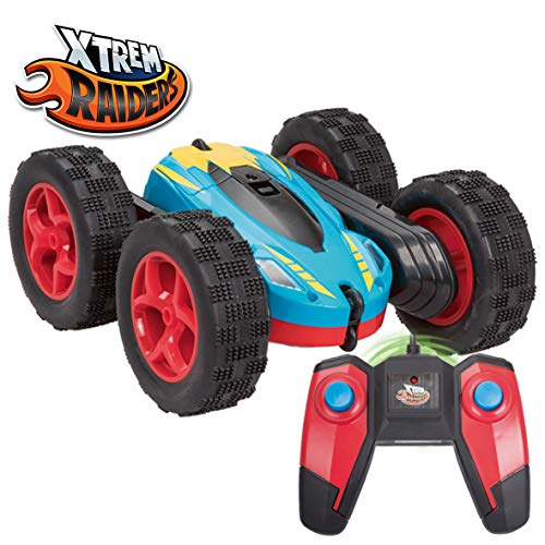 Xtrem Raiders- Tornado MAX Coche teledirigido Reversible, Radio Control con batería, giros 360 Grados, Color Negro/Azul/Rojo (XT180790)