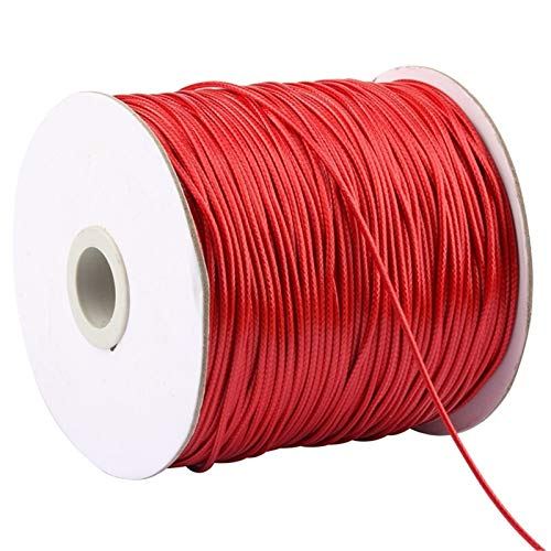 XIAOXINGXING 1.5mm Waxed Polyester Cord 150 Meters/Roll Waxed Thread String Strap Necklace Rope Bead DIY Jewelry Making For Bracelet (Color : Color 3)