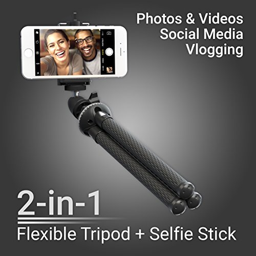Product Image 5: Xenvo SquidGrip Flexible Cell Phone Tripod and Portable Action Camera Holder – Compatible with iPhone, GoPro, Android, Samsung, Google Pixel and All Mobile Phones