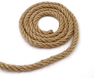 DRAGON SONIC 8mm-20Meters 65ft Natural Hemp Rope Manual Dyeing Rope for DIY Decoration,Black