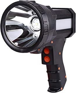 LED Rechargeable Handheld Flashlight Searchlight, Rechargeable 18650 Battery Included 3 mode Waterproof Handheld Tactical ...