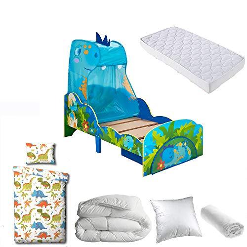 BEBEGAVROCHE - Pack completo de cama infantil de Cars Disney = cama + colchón + edredón + almohada