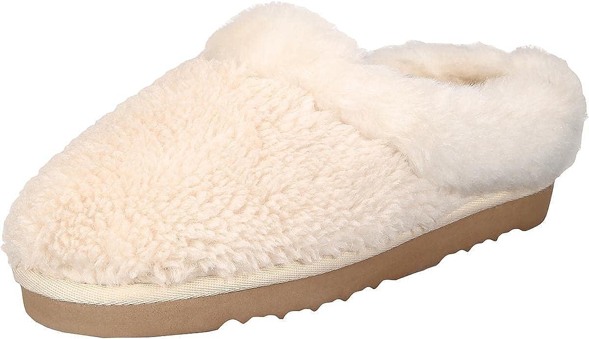 Style & Co. Womens Teddiee Faux Fur Slip On Slides White 5 Medium (B,M)