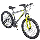 Huffy 24-inch Mountain Bike for Kids, 21-Speed Bicycle, Silver, Medium, Model: 24998