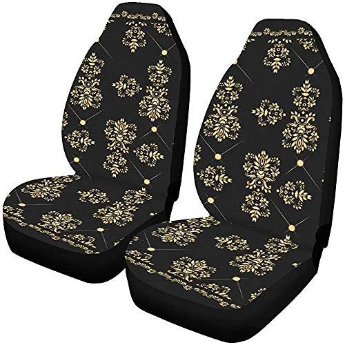 Auto Stoelhoezen Goud Bandana Zijde Sjaal luxe Golden Design Vector Voertuig Seat Protector Auto Mat Covers