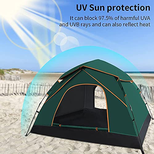 GEEDIAR Automatic Pop Up Tent for 3-4 Person,Upgraded Camping Tent Waterproof & UV Protection Instant Portable Dome Tent with Carrying Bag for Family Camping Hiking
