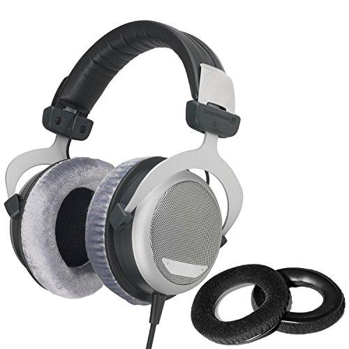 Beyerdynamic DT-880 Pro Headphones with Dekoni Audio Velour Replacement Ear Pad set