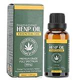 Aceite de cáñamo para aliviar el dolor, la ansiedad y el estrés, aceite esencial de masaje corporal de 30 ml, aceite de semilla de cáñamo, alivio del insomnio para aliviar la presión