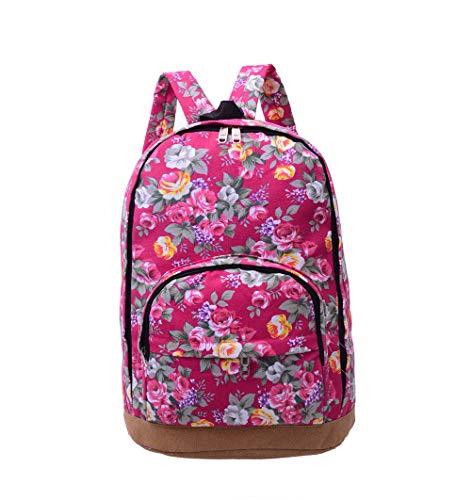 VHVCX Laptop-Rucksack Luxus Rucksack Frauen Schulranzen für Mädchen Blumen Bagpack weiblich Bookbag Süße nationale Art, C