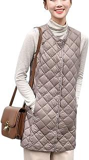 Women's Stand Collar Lightweight Quilted Vest Jacket