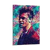 SSKJTC Tyler Durden - Póster de Brad Pitt para fumar (30 x 45 cm)