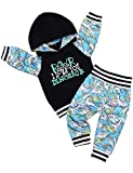 Baby Boy Outfits Long Sleeve Rawr Dinosaur Hoddie and Pant Clothes Set 2Pcs 18-24 Months Blue