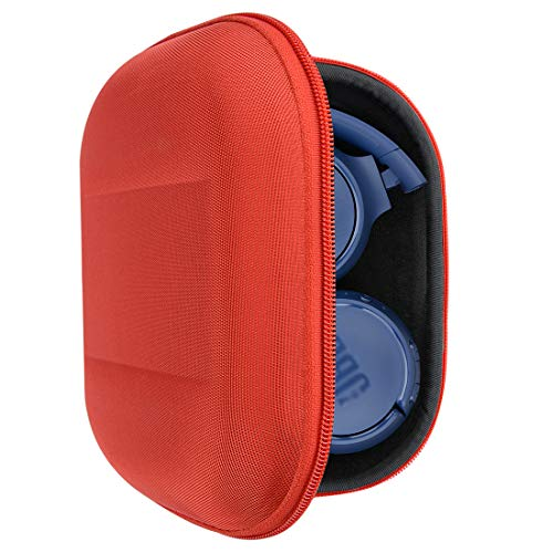 Geekria UltraShell Headphones Case for JBL Tune 600 BTNC, Live 400BT, Tune 500BT, Tune 600BTNC, T450BT Headphone and More, Protective Hard Shell Travel Carrying Bag with Room for Accessories (Red)
