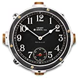 Pendulux, Navy Wall Clock, Home Decoration Aluminum