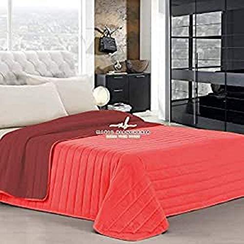 PETTI Artigiani Italiani Tagesdecken, Bordeaux, Bettgröße 140 (240x260 cm)