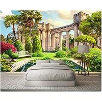 Iusasdz カスタム3D壁紙ローマの列庭の風景3D背景壁の壁紙リビングルーム3D-120X100Cm