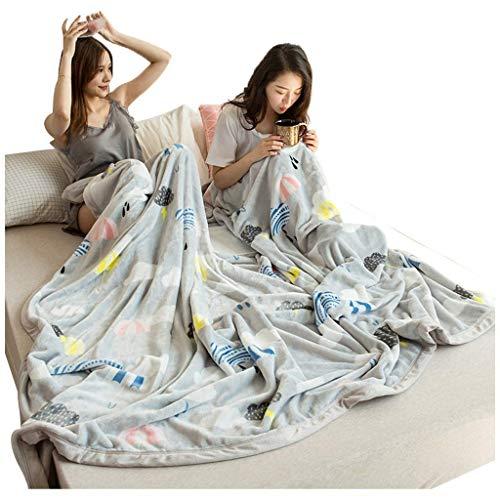 AI LI WEI Airconditioning deken, mat, flanel, winter-dekbed, dik bedlaken voor tweepersoonsbed, slaapkamer, studenten, warm coral fleece