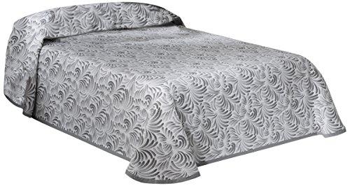 Eysa Bettüberwurf, Polyester, 200 x 90, 5 Prozent aus Acrylfaser 5 Prozent Baumwolle Plumas Tagesdecke Grau, 06