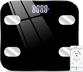 HSBAIS 体重計 体組成計、スマート Bluetooth 体脂肪計、体重、体脂肪、筋肉、BMIなどを測定します,black