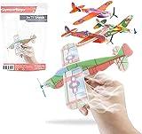 10x Pack de Avions Styrol à Monter - Polystyrène Styrofoam / planeurs / planeurs / planeurs / Styrofoam Pour l'anniversaire des enfants pour garçons et filles de TK-Gruppe