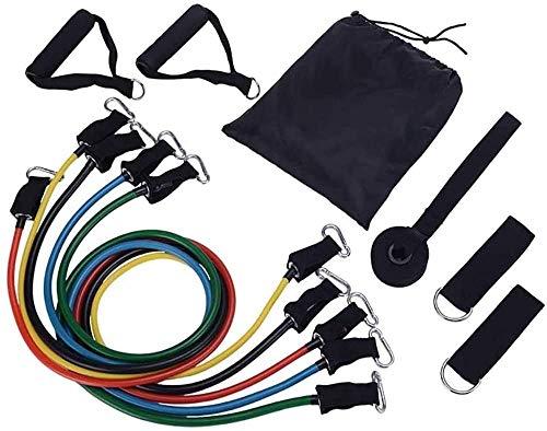na 11PCS Resistance Bands Widerstandsbänder Set, mit 5 Übungsbänder, 2 Schaumstielen, 2 Knöchelriemen, Türanker und Tragetasche für Krafttraining, Physiotherapie, Home Gyms Workout
