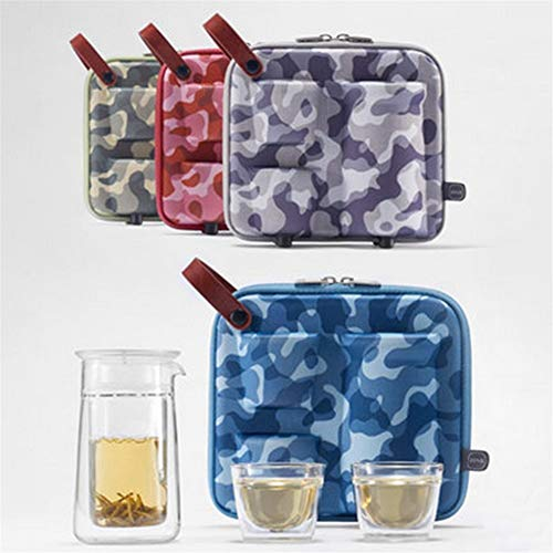 VisvimQ Caja Impermeable ya Prueba de choques portátil Taza Resistencia a los Golpes Gota Tetera de té de la Botella de Almacenamiento en Rack EVA té admisión Paquete de Viaje