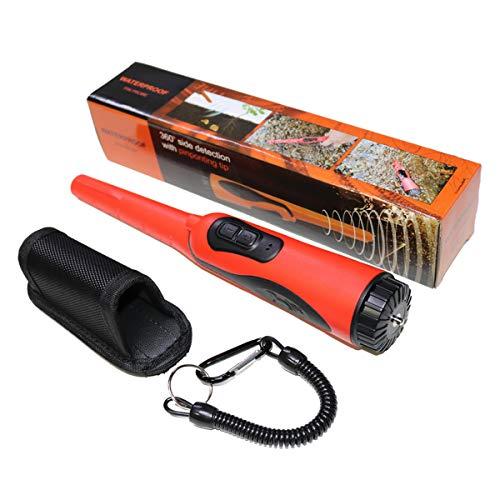 Metaaldetectors Handheld HS-16 Lichtgewicht Hoge Gevoeligheid Geluids- En Trillingsherinneringen Met LED-Licht IP68 Waterdicht Voor Het Ontdekken Van Goud, Zilver En Schatten,Red