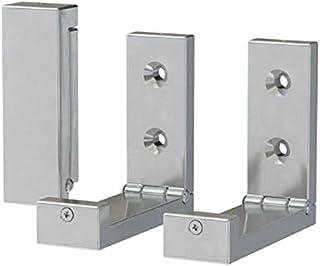 BJÄRNUM Folding hooks Bathroom storage room , Utility Hooks aluminium 3 pack-Save space