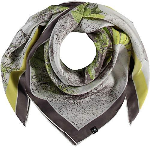 FRAAS Damen Tuch aus reiner Seide im Ethno-Style seidig & glänzend Lime