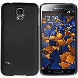 mumbi Hülle kompatibel mit Samsung Galaxy S5 / S5 Neo Handy Hard Hülle Handyhülle, schwarz