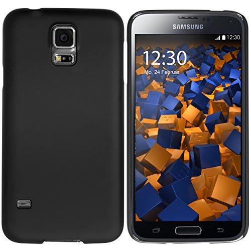 mumbi Hülle kompatibel mit Samsung Galaxy S5 / S5 Neo Handy Hard Case Handyhülle, schwarz