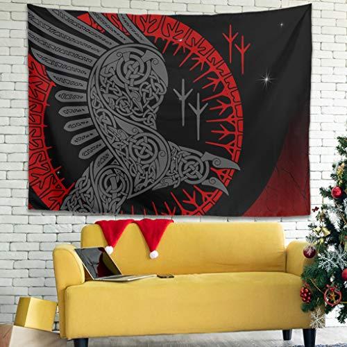 Tentenentent Viking Eagle Gothic - Colgar pared - Comforter Throw Bedspread, decoración para el hogar para la decoración de habitaciones, blanco 6 100 x 150 cm