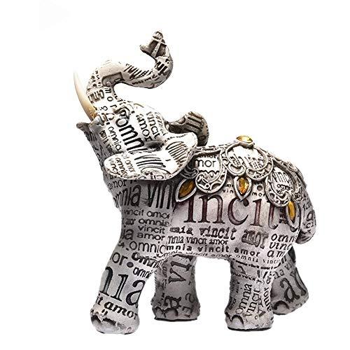 Harz Elefant Statue Elefant Deko Elefant Figur Elefant Feng Shui Deko Skulptur Reichtum Figur Glück Glückselefant Glück Feng Shui Grüne Elefant Statue