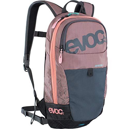 EVOC JOYRIDE 4 Kinderrucksack leichter Performance-Rucksack für Ausflüge & Outdoor Sport-Aktivitäten (4l Stauraum, AIR TUNE SYSTEM, abnehmbarer Hüftgurt, 2l Trinkblasenfach), Dusty Pink / Carbon Grau