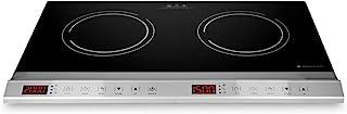 Navaris Double Plaque à Induction - Plaque Induction 2 Foyers 3500W - Plaque Vitrocéramique de Cuisson - Boutons Tactiles ...