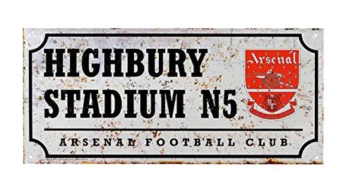 Neu Offiziell Fussball Team Metall-straßenschild (Verschiedene Teams sich wähle von - Arsenal FC (Retro)