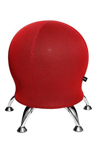 Topstar Sitness 5, Fitnesshocker mit Gymnastikball, Fitnessball, Ballhocker, Sitzalternative, rot