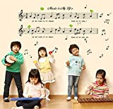 Domire New Wall Art Decor Removable Vinyl Decal Sticker Musical Music Notes Home Swirls