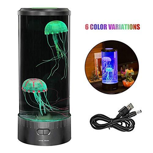 YLAN LED-lampekwallen fantasie rond sfeerverlichting kwaallamp aquarium nachtlicht USB opladen voor kinderen mannen vrouwen (groot)