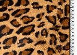 Die Stofftante Fellimitat Kunstfell Animalprint beige-braun