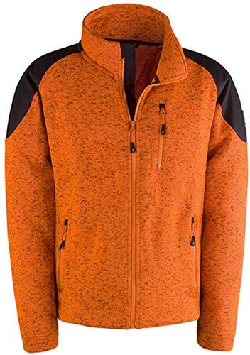 Hunter - Felpa in pile arancione fluo, morbida e confortevole, taglia XL