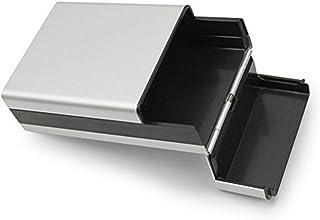 Custodia portatile per portasigarette in metallo Custodia in alluminio portasigarette portasigarette Custodia tascabile in astuccio da collocare in 20 pezzi Sigaretta