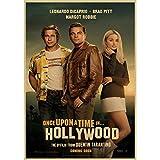 Cartel De La Película Érase Una Vez En Hollywood Retro Art Prints Vintage T-Shirt Decoración De La Pared Fotos Quentin Tarantino Poster 40X50Cm (N: 4953)