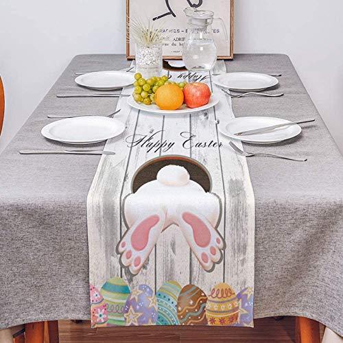 Ostern Tischwäsche Ostereier Bedruckt Oster Deko Tischwäsche Osterhasen Oster Motiv Tischdecke Mitteldecke Ostern Tischdeko Frühling Osterhasen Tischtuch Osterdeko Party Tabletop Dekor Tischdecke