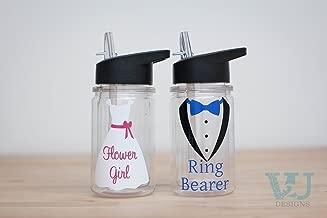Ring Bearer Gift Flower Girl Gift 10 oz Custom Water Bottle Wedding Party Gift