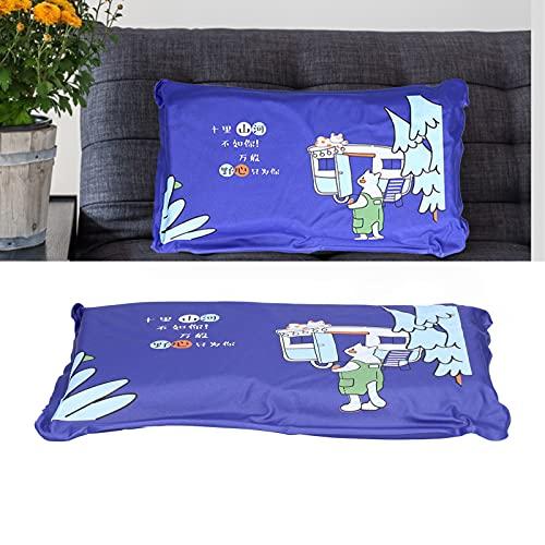 Faceuer Almohada de Agua, Verano Reutilizable Lindo de la Estera de enfriamiento de la disipación del Calor para el Dormitorio(1013 Dark Blue, Polar Animals)