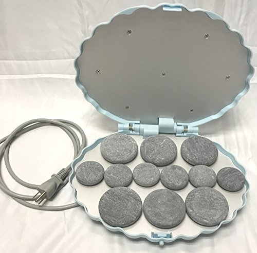 Discover Bargain Therapist's Choice Portable Hot Stone Warmer with 12 Stones